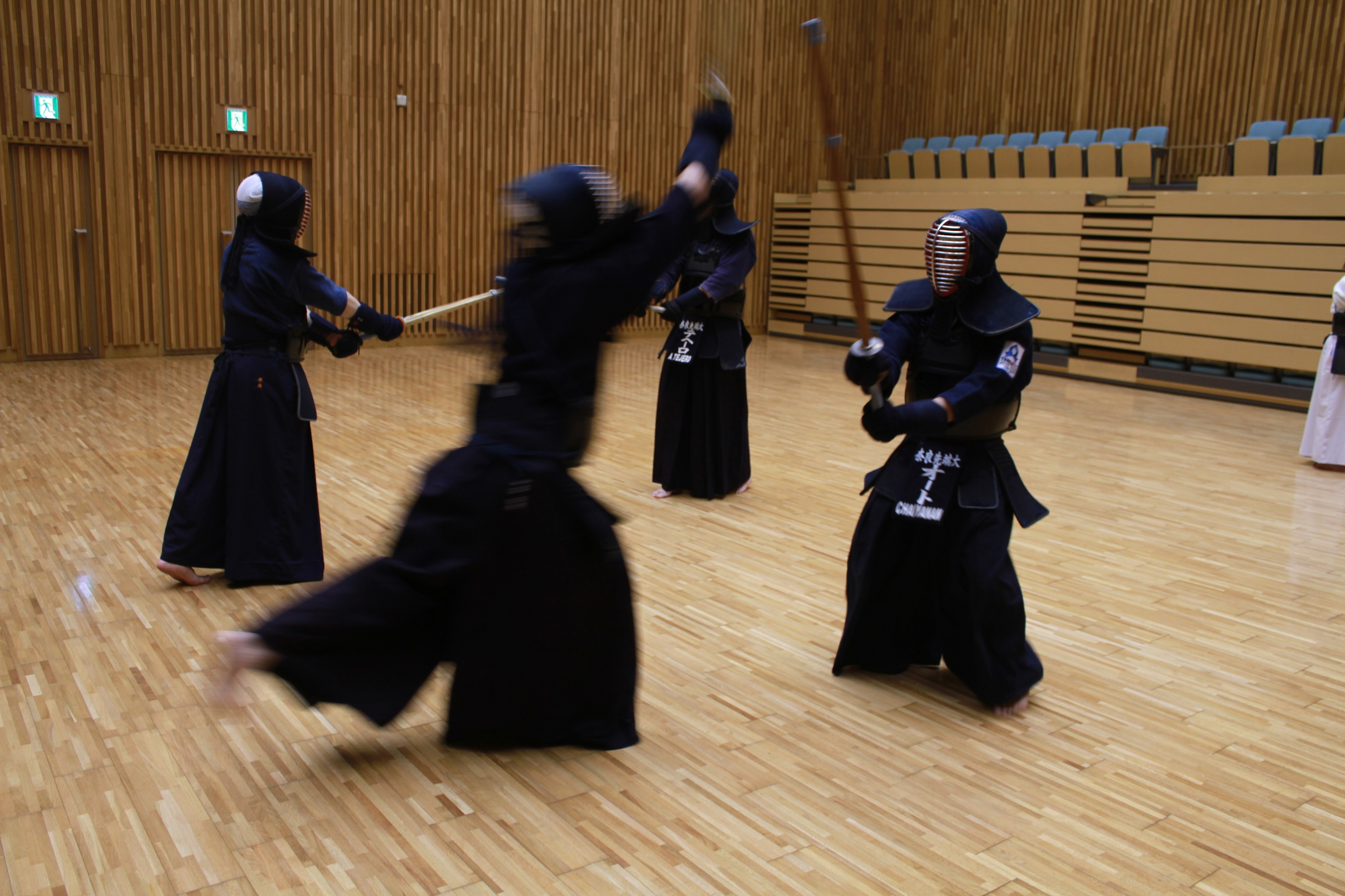 NAIST Kendo Club members relieving stress.
