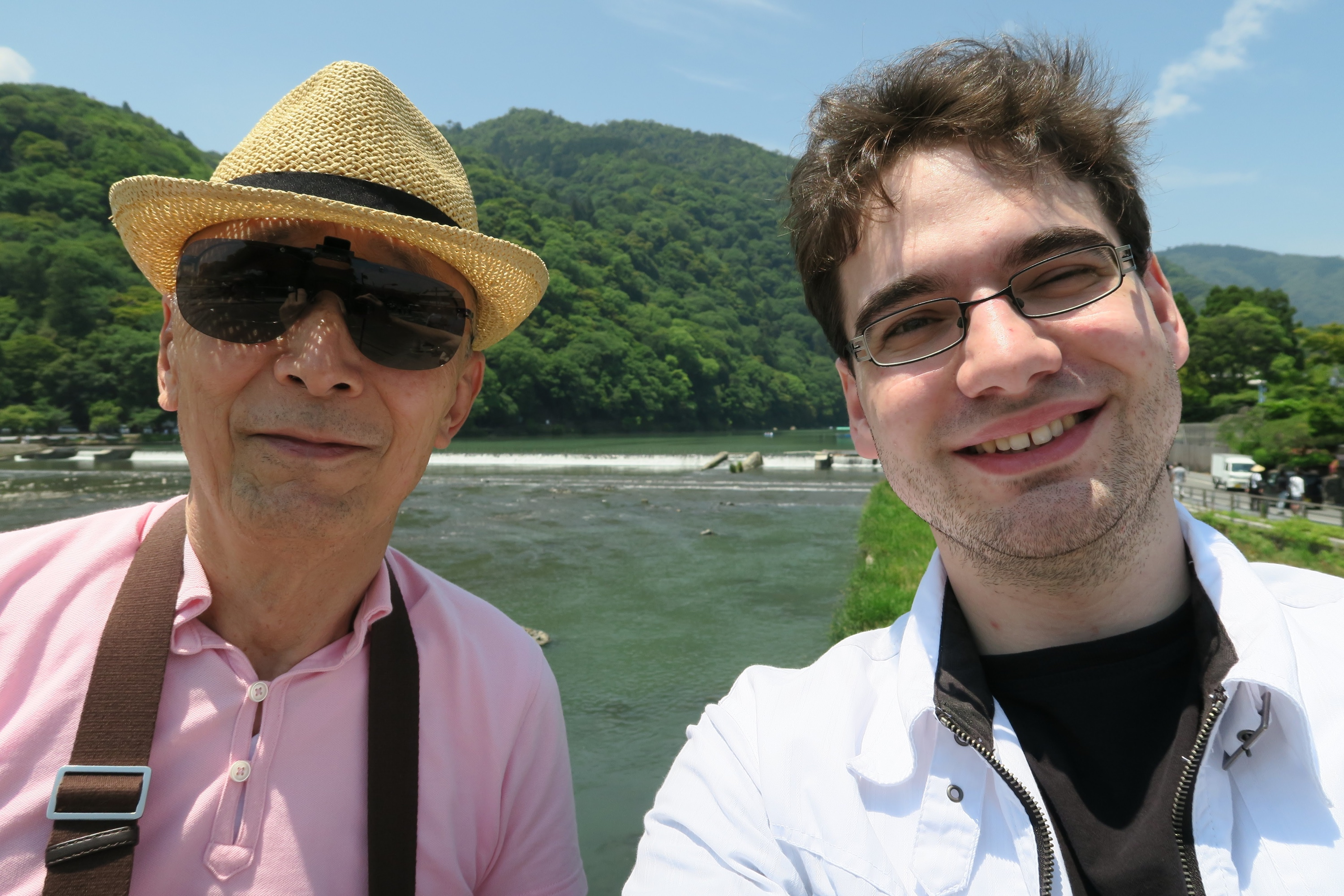 Having fun in Arashiyama during summer.