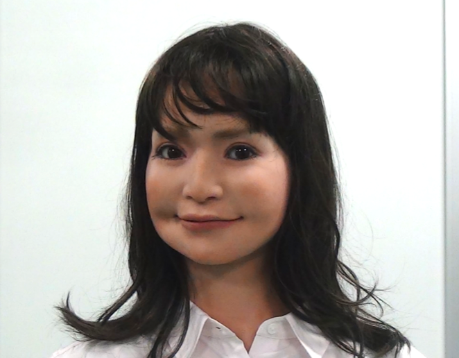 Android robots come with a fully expressive face, and can move their eyes and face