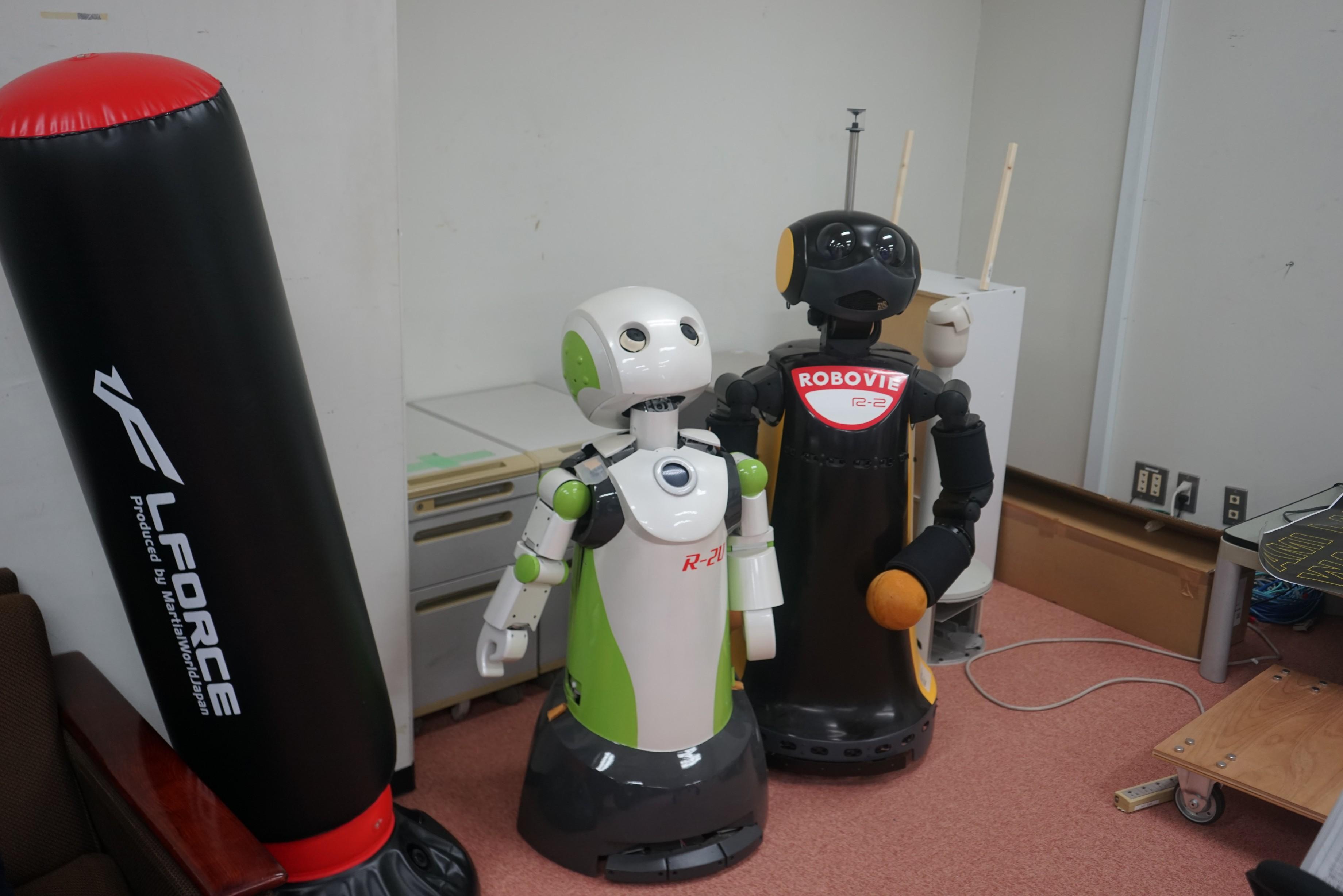 展示してあったロボット達です。